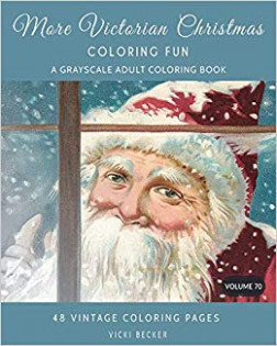 Amazon.com: More Victorian Christmas Coloring Fun: A Grayscale Adult ..