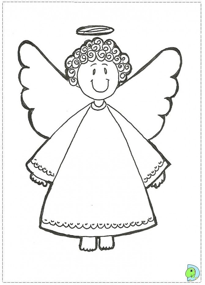 Angel coloring page, Christmas Angel colouring page- DinoKids ..