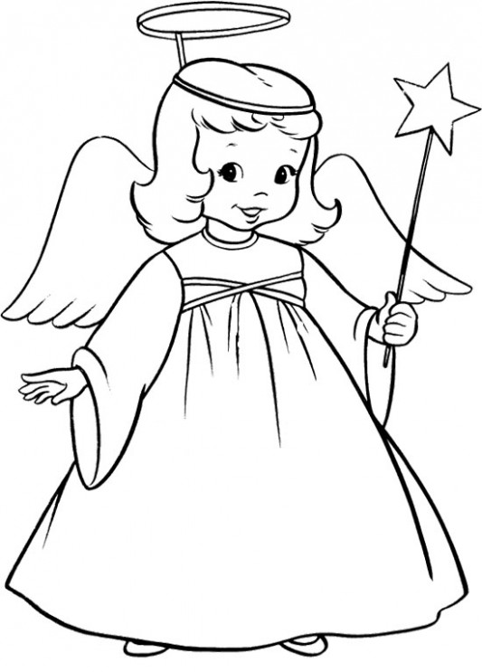 Angel Coloring Pages | Free download best Angel Coloring Pages on ..