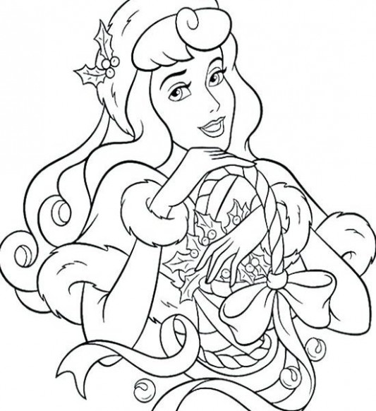 awesome disney princess christmas coloring pages gallery 13 q ..