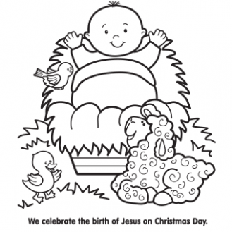 Baby Jesus Coloring Pages – Best Coloring Pages For Kids – Christmas Coloring Pages Of Baby Jesus In A Manger