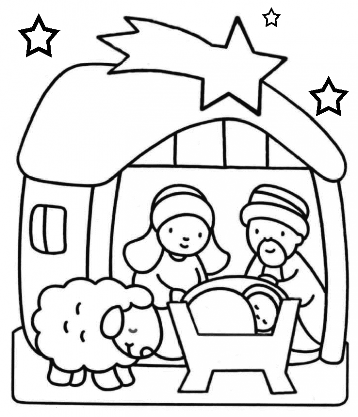 Baby Jesus Coloring Pages | Holiday Coloring Pages | Nativity ...