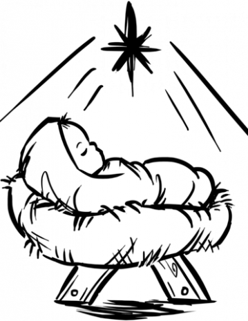 Baby Jesus Manger Scene coloring page | Free Printable Coloring Pages – Christmas Coloring Pages Of Baby Jesus In A Manger