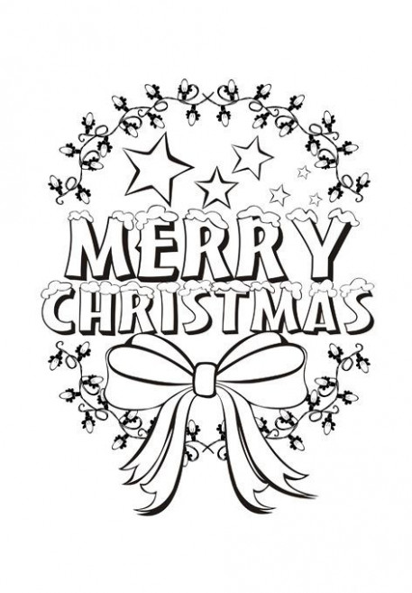 beautiful merry christmas coloring pages for kids | Teaching ..