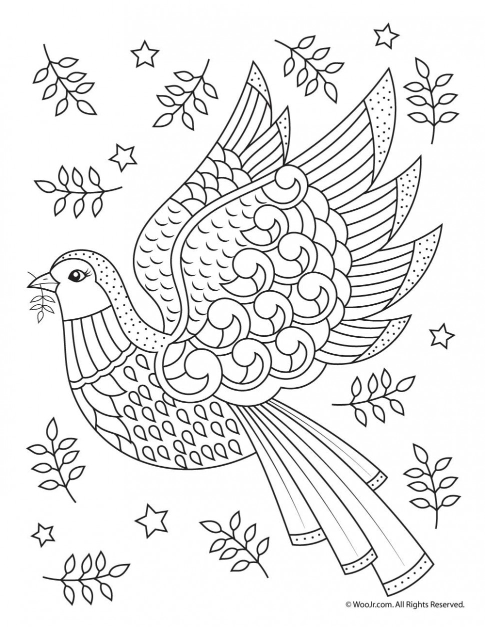 Beautiful Printable Christmas Adult Coloring Pages | Woo! Jr. Kids ..
