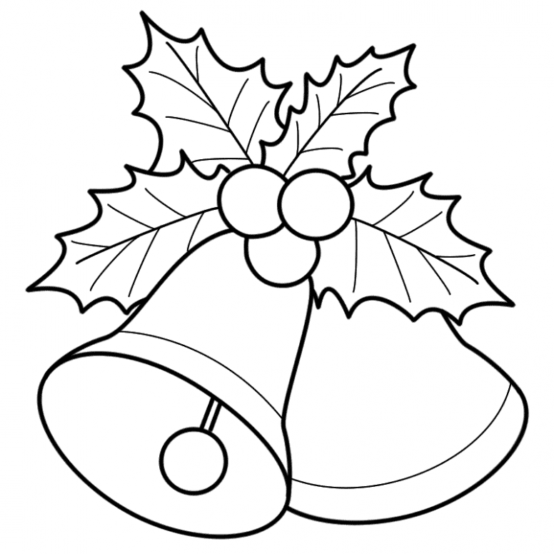 Bells With Mistletoe – Coloring Page (Christmas) – Coloring Home – Christmas Coloring Pages Mistletoe