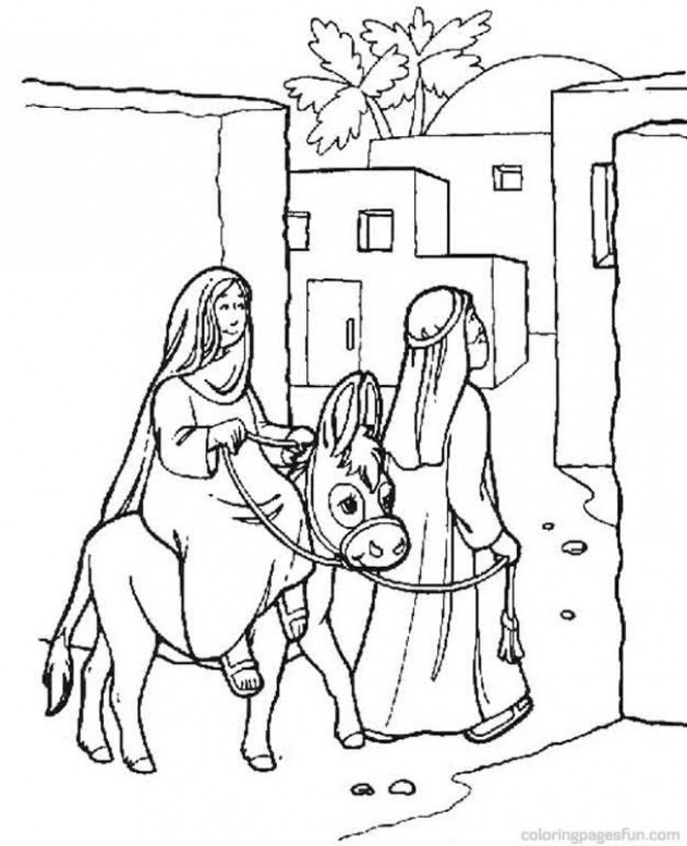 Bible Christmas Story Coloring Pages 15 Religious Christmas Coloring ...