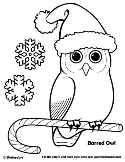 Birdorable Barred Owl Christmas Coloring Page | Birdorable Coloring ..