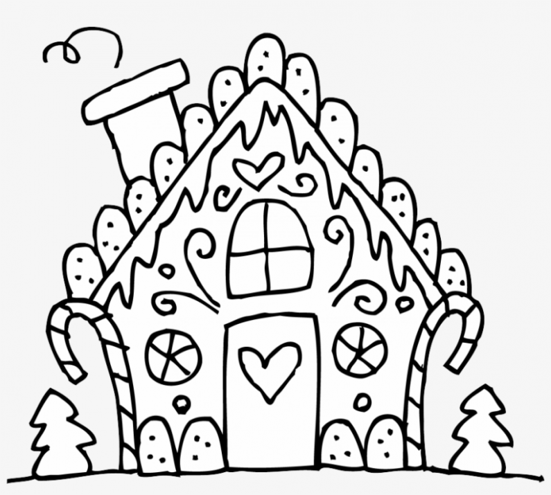 Black And White House Png Photo – Christmas Coloring Pages Cute ..