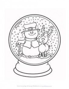 """Blank Snow Globe Coloring Pages Fresh 18 Best Icolor """"little Kids ..."""