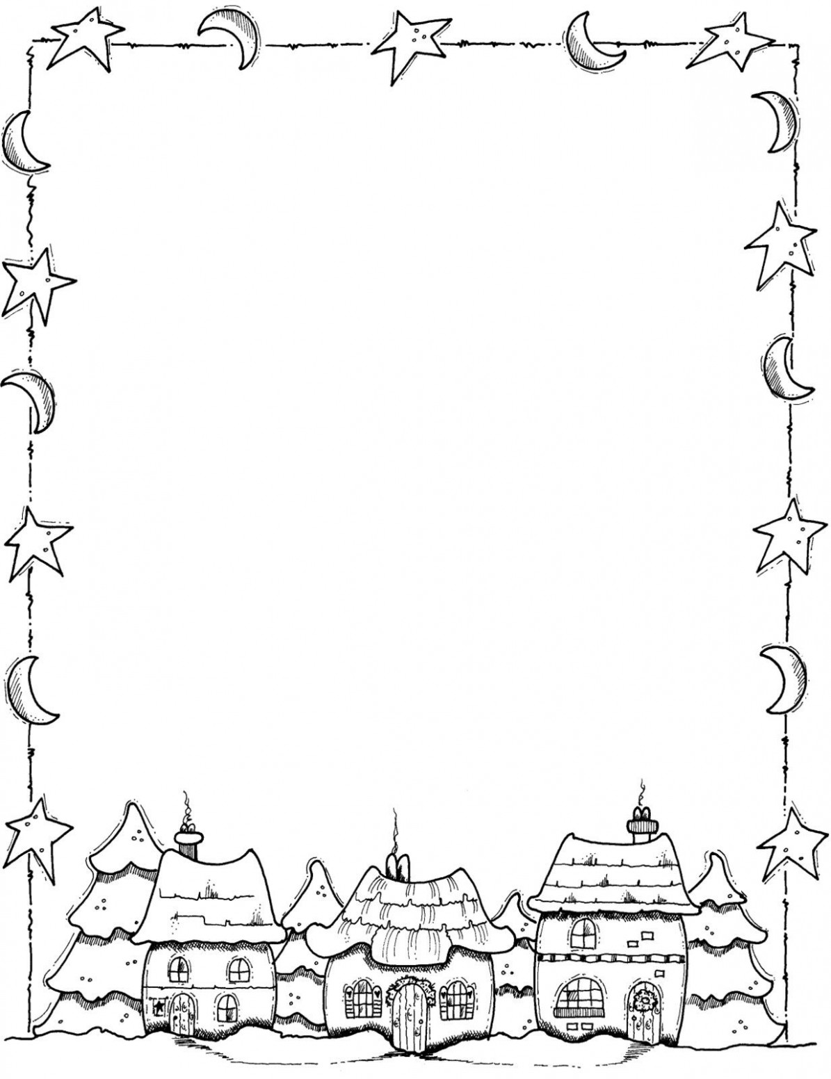 Border Coloring Pages – Christmas Coloring Borders Pages