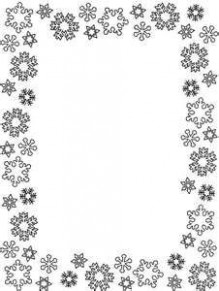 border winter and snow pinterest coloring pages snowflakes and frame ..