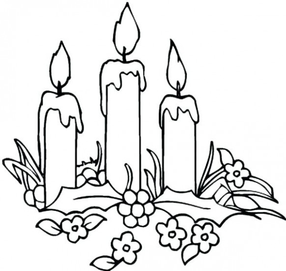 Candle Coloring Candle Decorating Candle Coloring Pages Free ..
