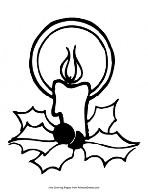 Candle Coloring Page | Printable Christmas Coloring eBook – PrimaryGames – Printable Christmas Candles Coloring Pages