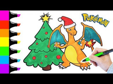 Charizard Pokemon Christmas coloring book pages I Fun colouring ..