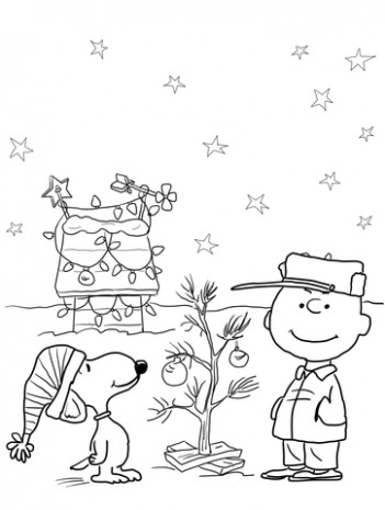 Charlie Brown Christmas coloring page | Free Printable Coloring Pages – Christmas Coloring Free Printable Pages