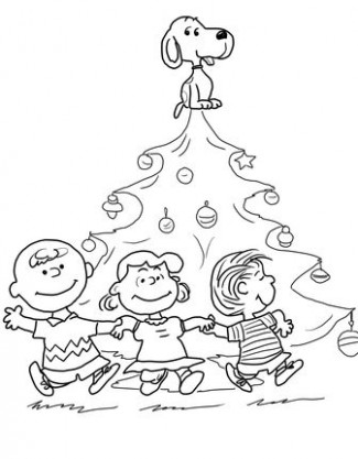 charlie brown christmas coloring pages (and tons of other coloring ..