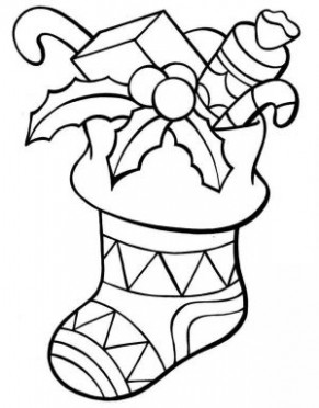 Chirstmas Stocking Coloring Pages Collection - Free Coloring Sheets