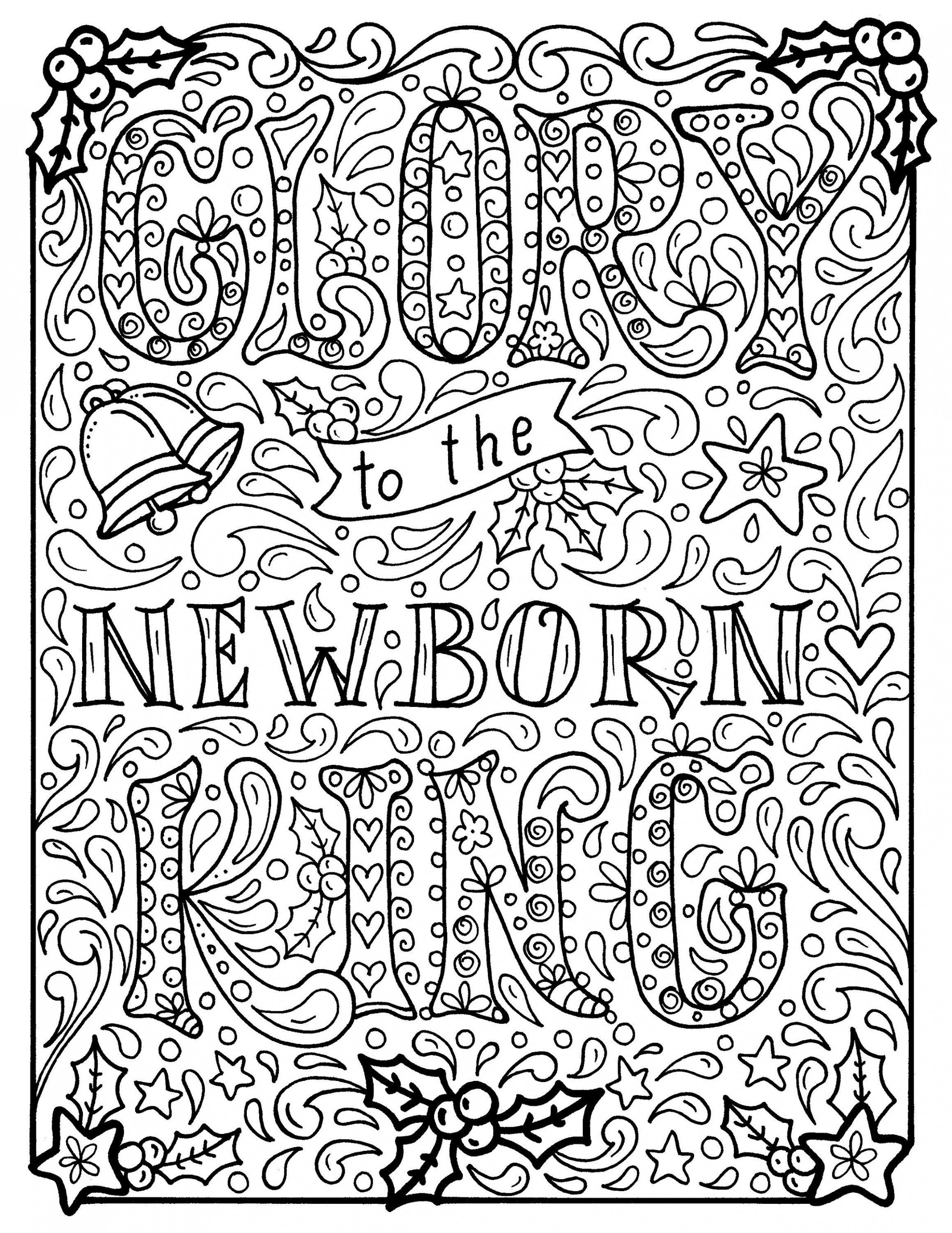 Christian Christmas Coloring page, Church, Scripture, Bible, Adult ..