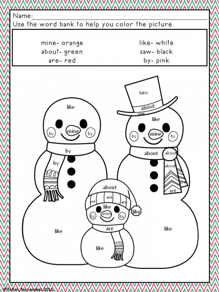 Christmas Activities- Christmas Coloring Pages | KindergartenKlub ..
