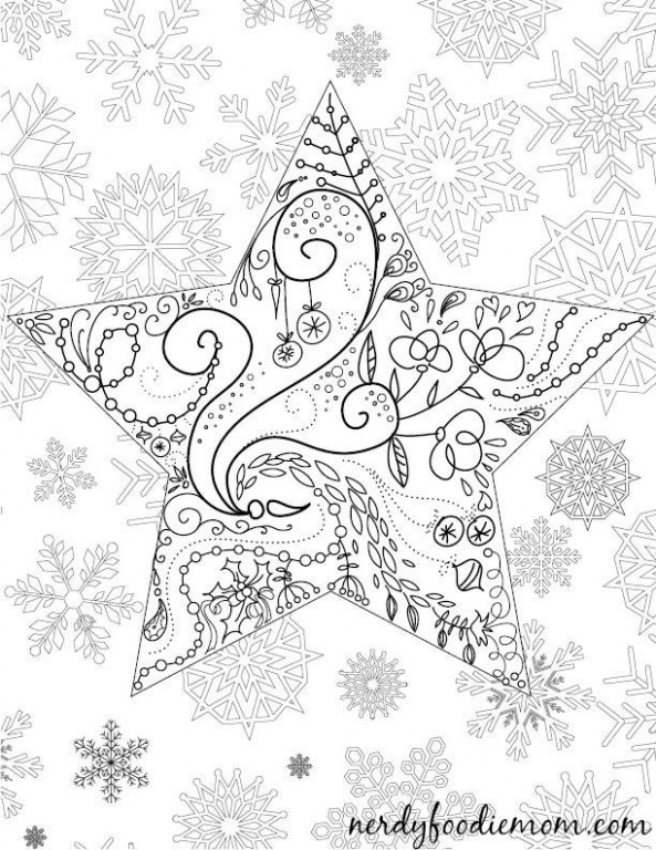 Christmas Adult Coloring Pages Christmas Adult Coloring Page Nerdy ..