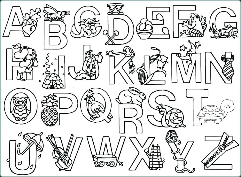Christmas Alphabet Coloring Pages Alphabet Coloring Pages New With ...