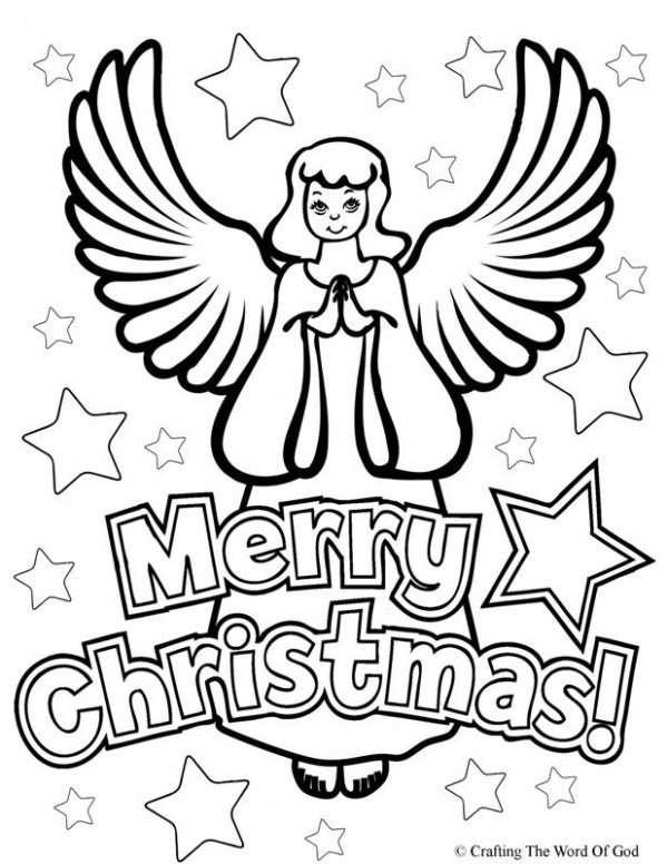 Christmas Angel- Coloring Page « Crafting The Word Of God – Christmas Angel Coloring Pages To Print