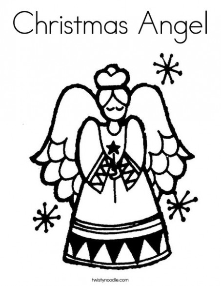 Christmas Angel Coloring Page – Twisty Noodle – Christmas Coloring Pages Twisty Noodle