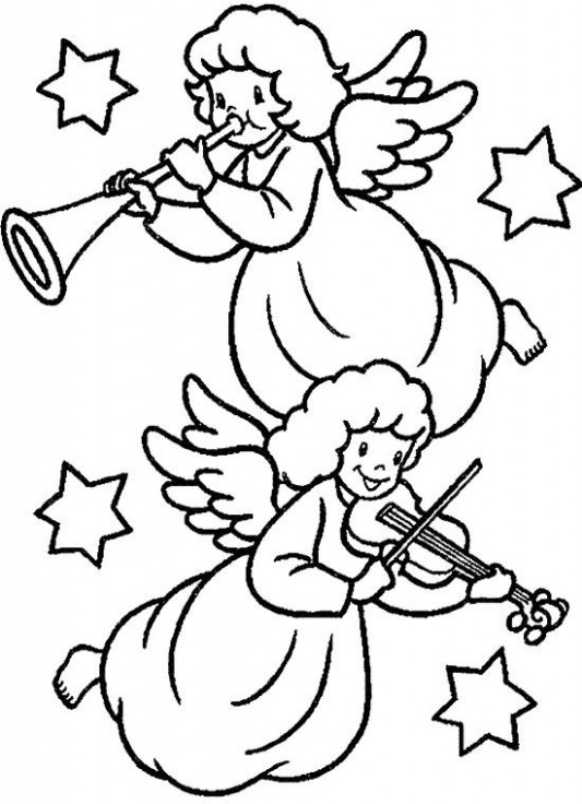 Christmas Angel Coloring Pages | Angel Christmas Coloring Page is ...