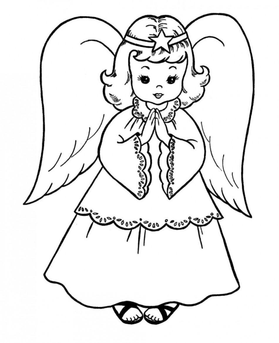 Christmas Angel – Coloring Pages for Kids and for Adults ..