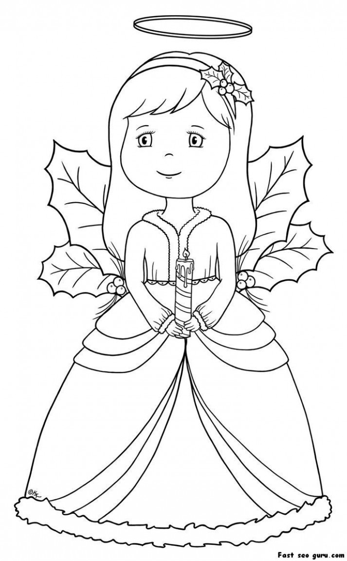 Christmas Angel Coloring Pages | Homepage » Christmas » Printable ..