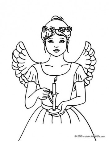 CHRISTMAS ANGELS coloring pages – 13 Xmas online coloring books and ..