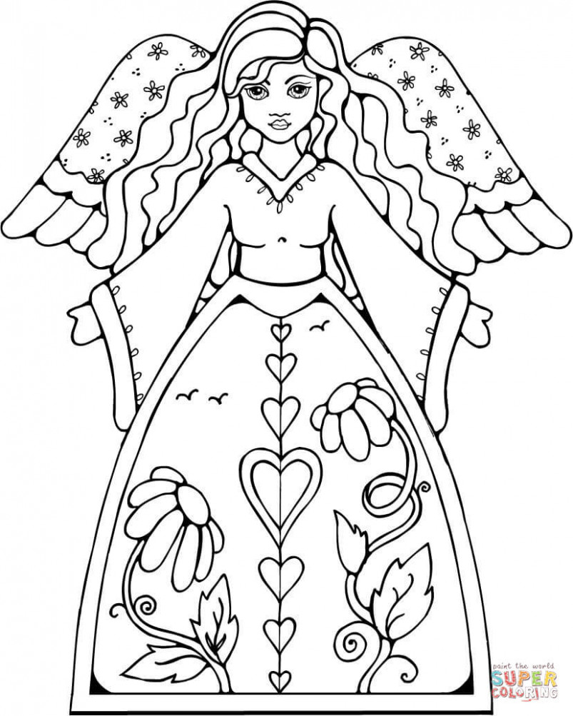 Christmas Angels coloring pages | Free Coloring Pages – Christmas Coloring Pages Angels