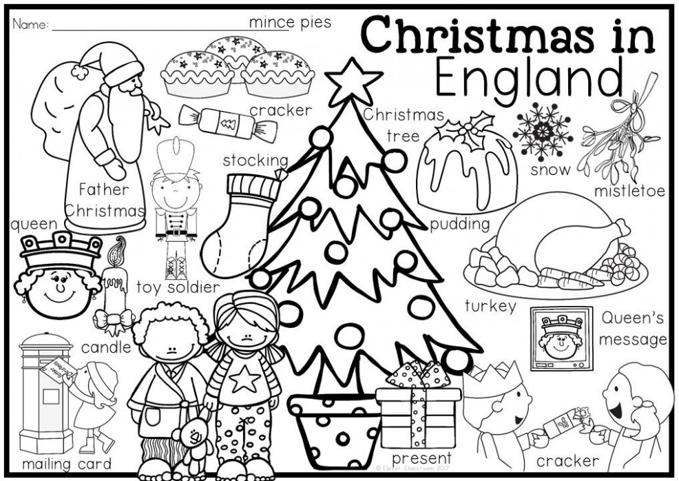 Christmas Around the World Coloring Pages and Vocabulary Posters – Christmas Coloring Pages Australia