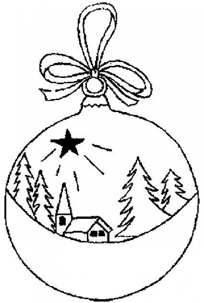 Christmas ball coloring pages | Coloring Pages | embroidery <20 ..
