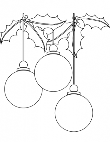Christmas Ball Ornaments coloring page | Free Printable Coloring Pages – Christmas Ball Printable Coloring Pages