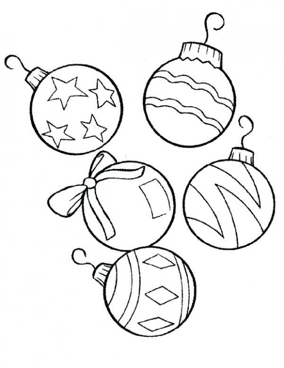 christmas ball ornaments coloring pages – highfiveholidays