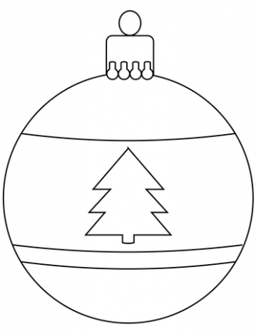 Christmas Bauble Ornament coloring page | Free Printable Coloring Pages