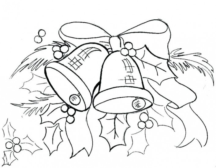 christmas bell coloring page printable – glenbuchat