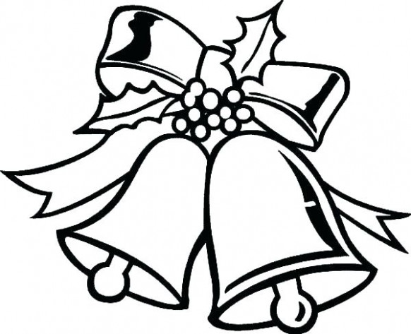 Christmas Bell Coloring Pages Bell Coloring Page Of A Bells Pages ..