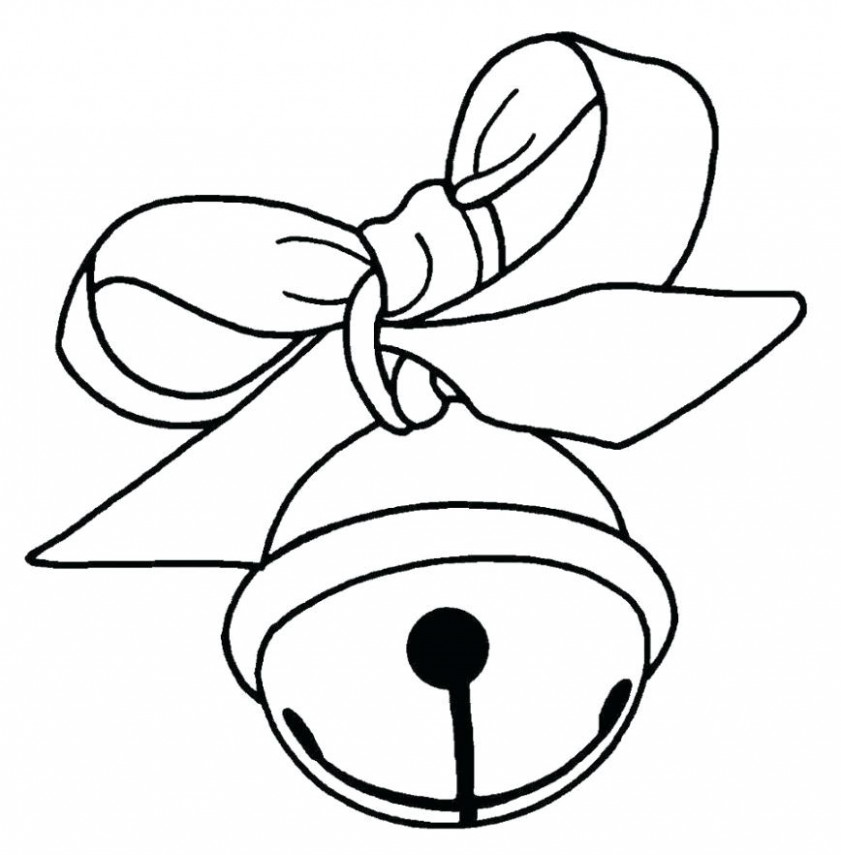 Christmas Bell Coloring Pages Free Printable Merry Bells Coloring ..