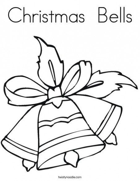 Christmas Bells Coloring Page - Twisty Noodle