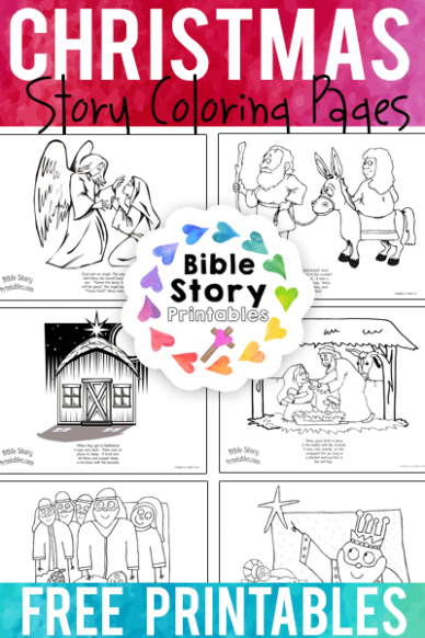 Christmas Bible Coloring Pages – Bible Story Printables – Jesus Christ Christmas Coloring Pages