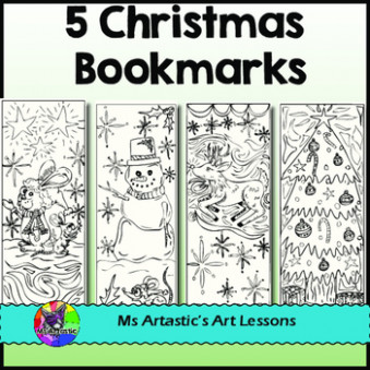 Christmas Bookmarks for Coloring by Ms Artastic | TpT – Christmas Coloring Bookmarks