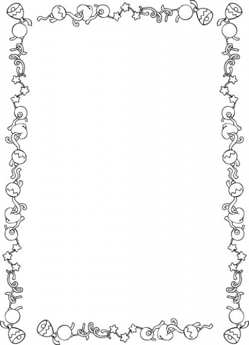 Christmas Border Coloring Pages   Borders 20B – Christmas Coloring Borders Pages