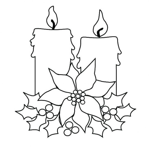 christmas candle coloring page – johnsimpkins