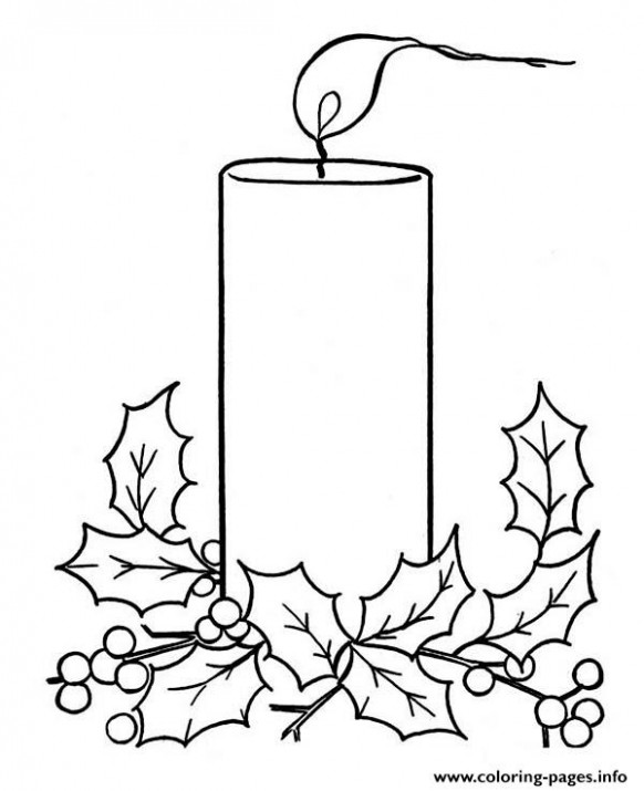 Christmas Candle Coloring Pages Printable – Printable Christmas Candles Coloring Pages