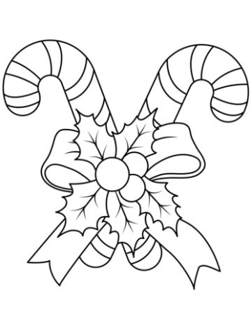 Christmas Candy Canes coloring page | Free Printable Coloring Pages – Christmas Coloring Pages Of Candy Canes