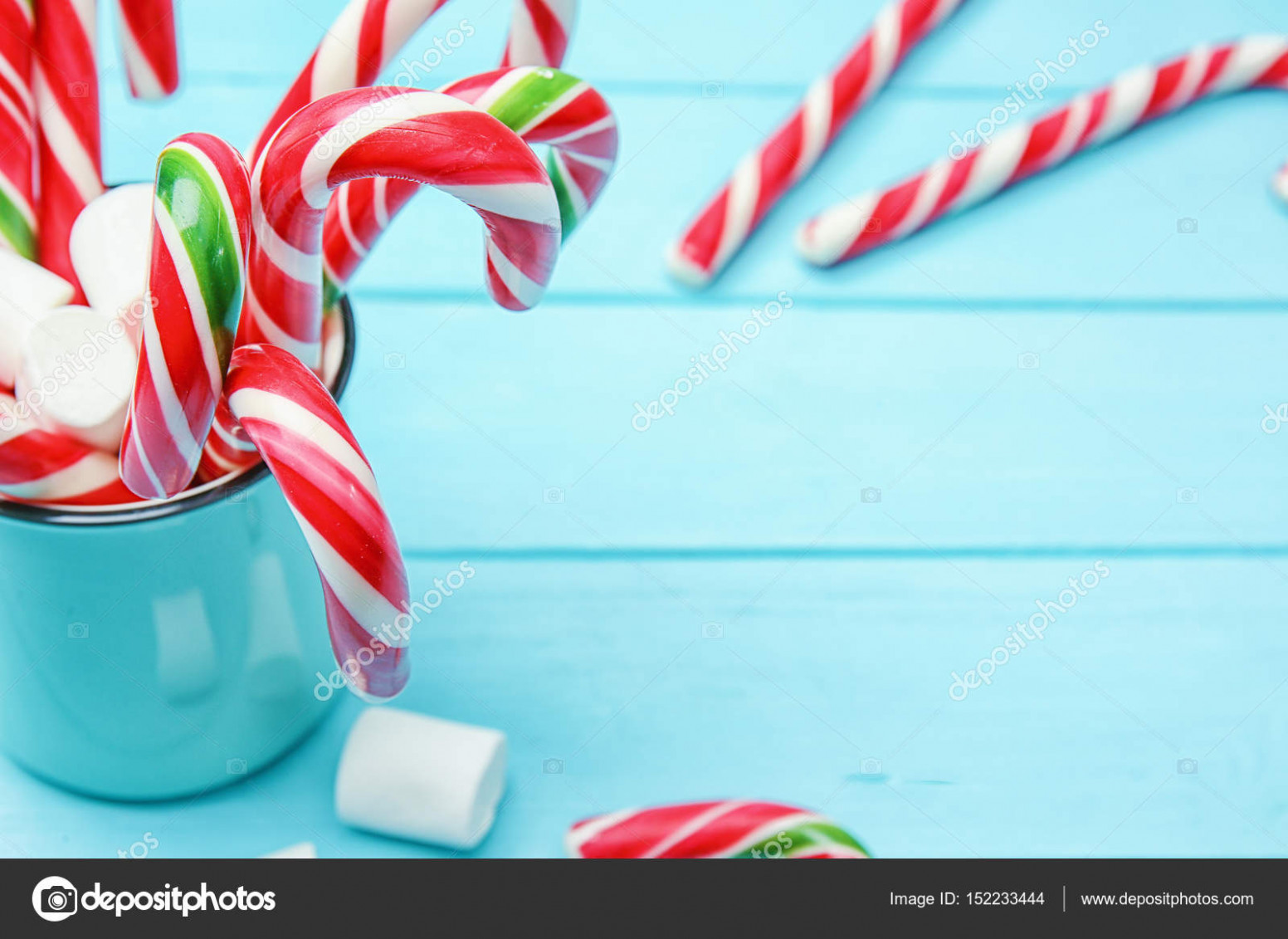 Christmas candy canes — Stock Photo © belchonock #16 – Christmas Colored Marshmallows
