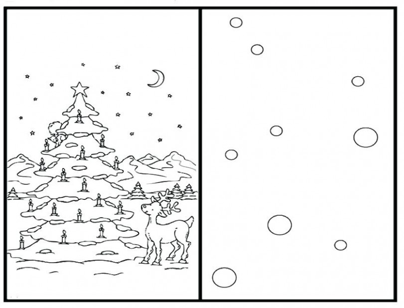 Christmas Card Coloring Pages Cards Free Sheets – seophpdirectory